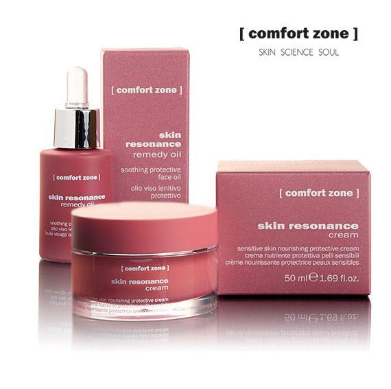 SKIN RESONANCE  Sanfte und pflegende Behandlung für empfindliche Haut, die hilft, die Mikrozirkulation wiederherzustellen, und die natürliche Abwehr der Haut stärkt.