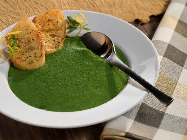 Soup with Spinach.