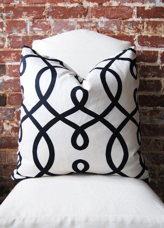 Black+and+White+Loop+De+Loop+by+Duralee+Fabric+by+MarthaAndAsh,+$47.00