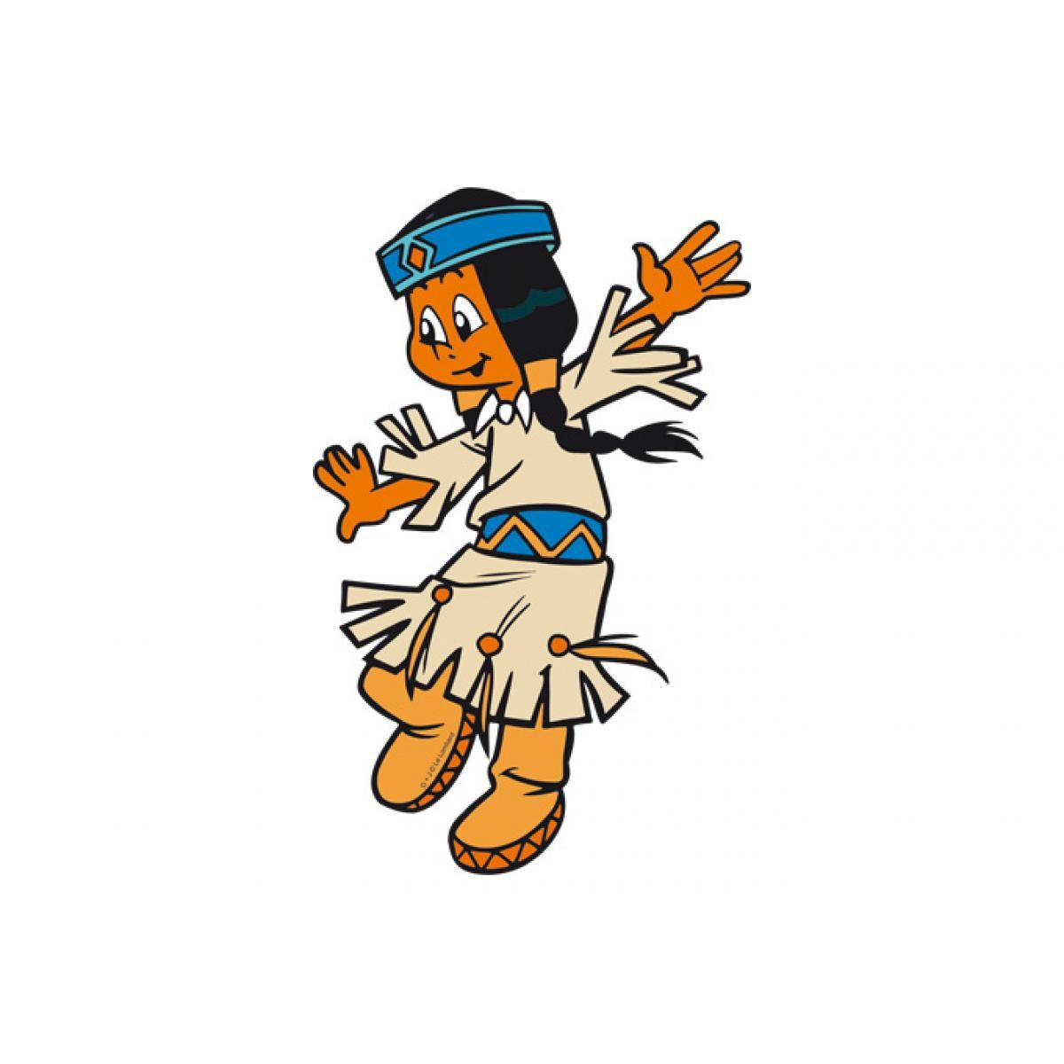 Wandsticker Yakari Regenbogen Tanzt Fasching Natives Cartoon