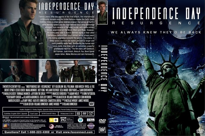 Independence Day Resurgence 2016 Dvd Custom Cover Dvd Cover Design Custom Dvd Dvd Covers
