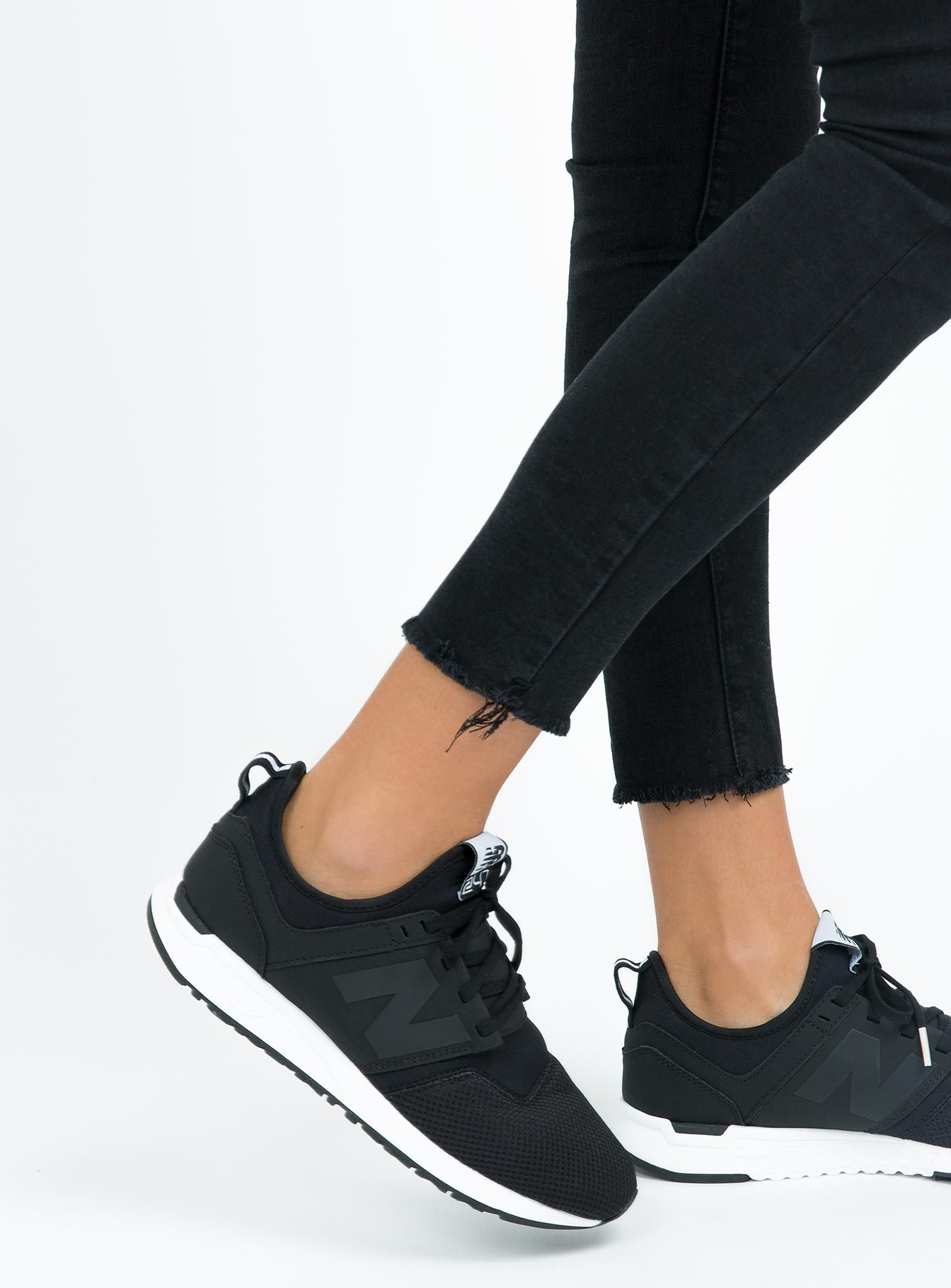 Women's New Balance 247 Classic Black | White shoes women ...