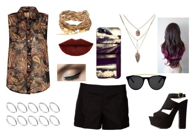 """""""Julie"""" by cri-bad on Polyvore featuring Charlotte Russe, ASOS, Marni, Casetify, Apricot, Smoke & Mirrors and Jeffree Star"""