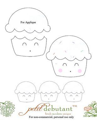 cupcake kawai | cartamodelli | Pinterest | Applikationen, Tagebuch ...
