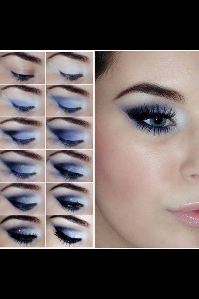 Niebieski Makijaż Dla Niebieskich Oczu Makijaż Makeup Eye