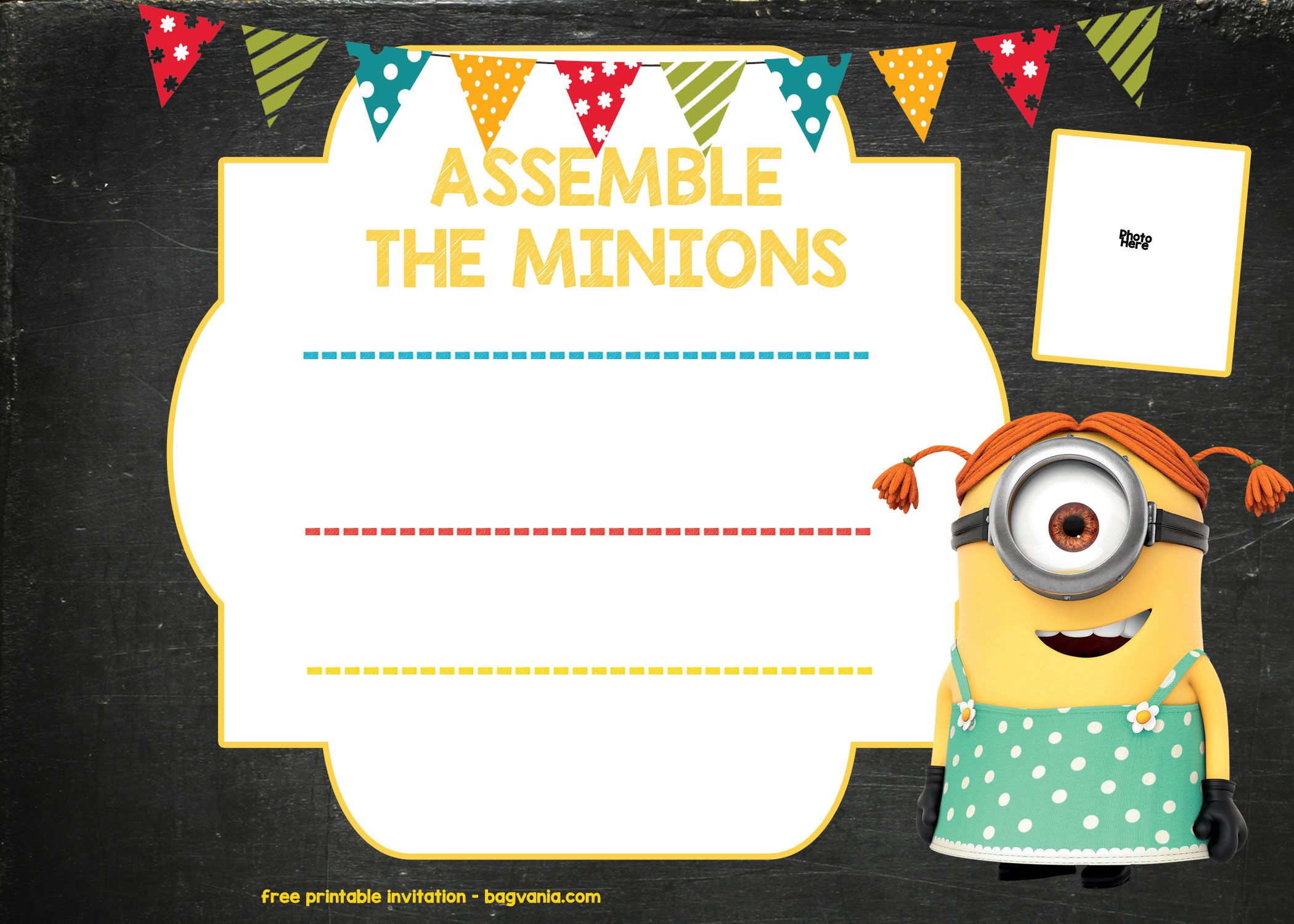 Updated Bunch Of Minion Birthday Party Invitations Ideas Free Downloadable Minion Birthday Invitations Free Printable Birthday Invitations Party Invite Template