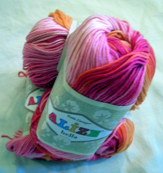 Alize Bella Batik Designed Yarn Pure Cotton Baby By