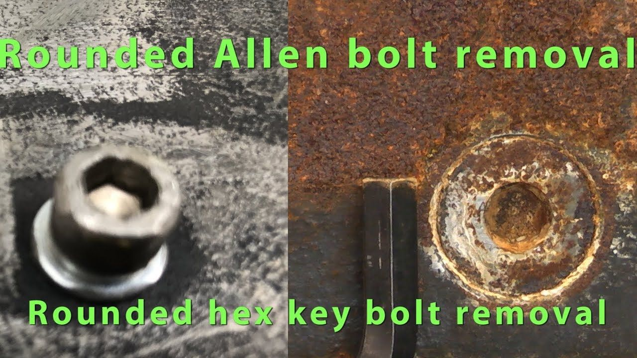 How to remove rounded allen head bolts remove rounded