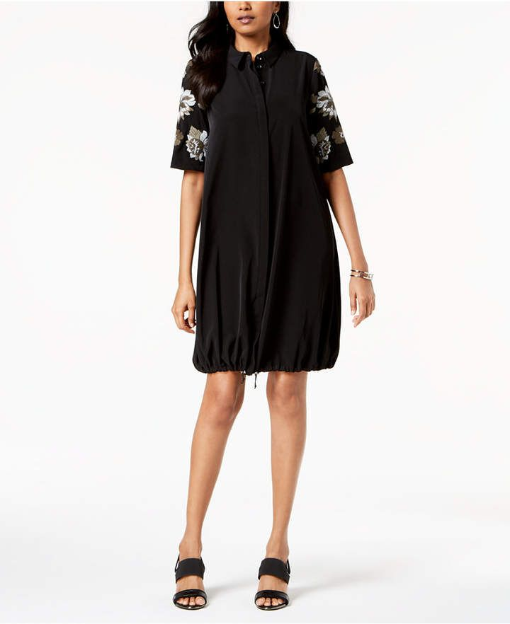 06ab1f77848 Embroidered Bungee Shirtdress