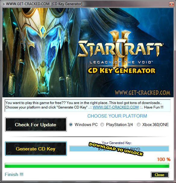 activation game key for starcraft 2