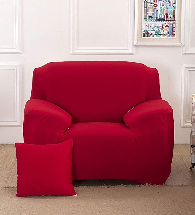 Phenomenal Chezmax Solid Color Couch Cover Spandex Fabric Sofa Cover 1 Ncnpc Chair Design For Home Ncnpcorg