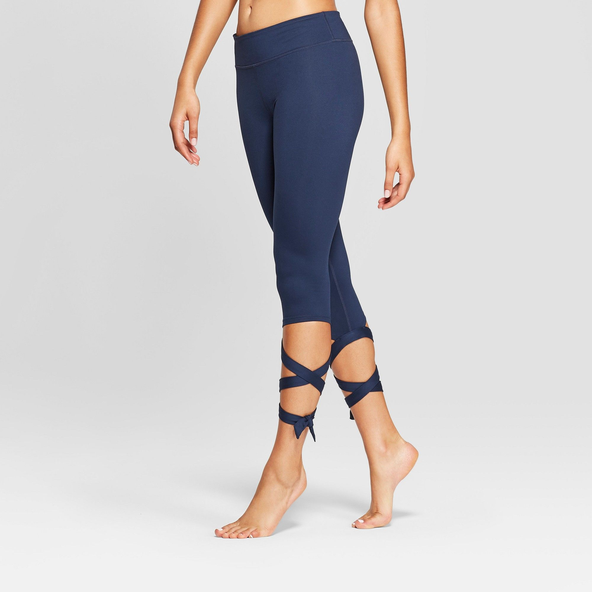9320635bf1e6 Women s Comfort Side Tie Mid-Rise Capri Leggings - JoyLab Navy (Blue) Xxl