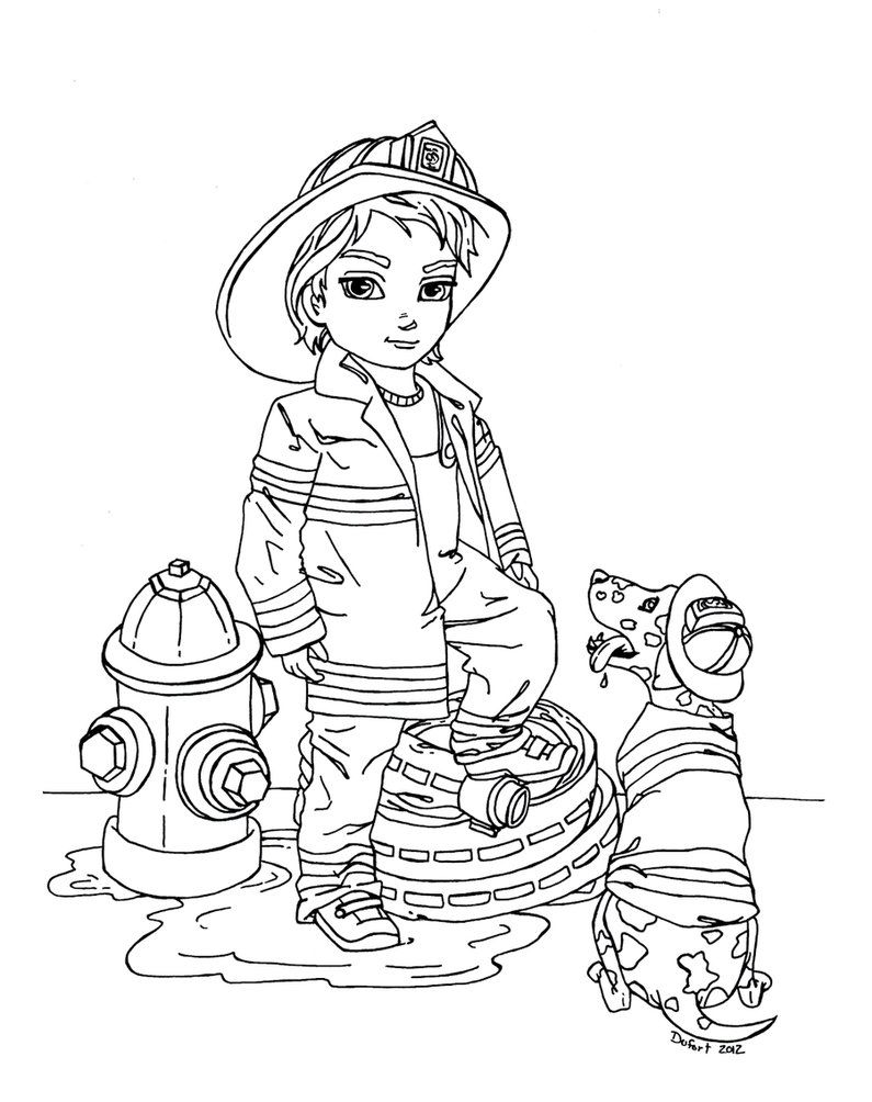 Printable Firefighter Coloring Pages deviantART More