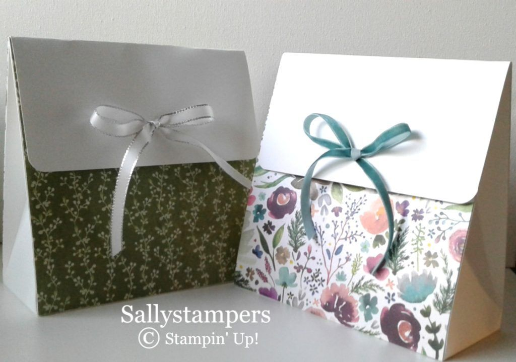 Frosted gift bag wine purse scrapbook box handmade gifts