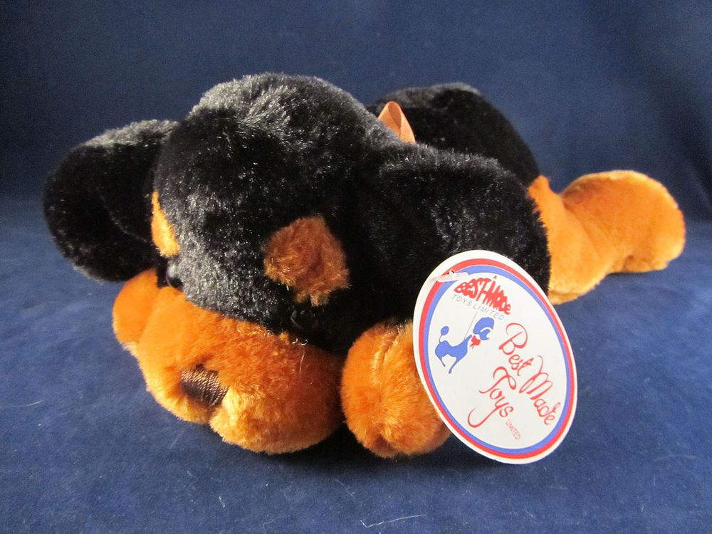 Best Made Toys Black Brown Plush Stuffed Puppy Dog Cute