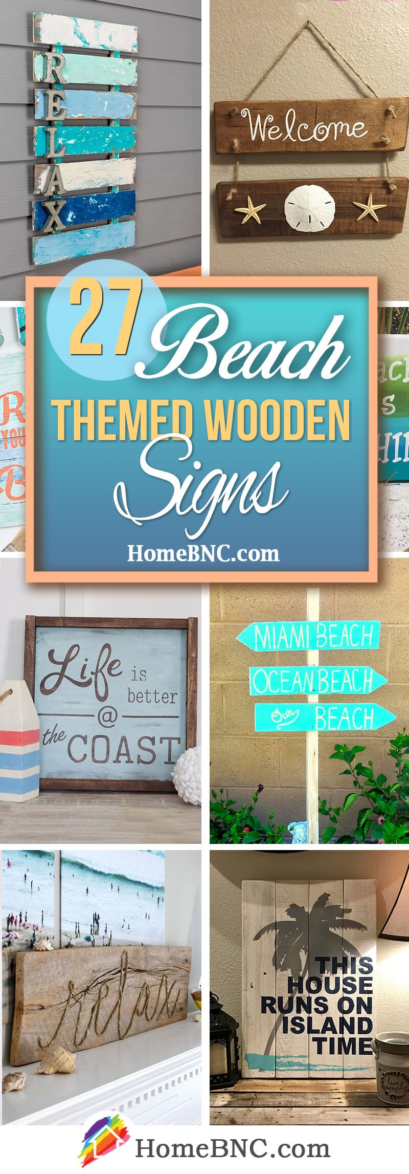 27 best beach themed wooden signs ideas and designs for 2018