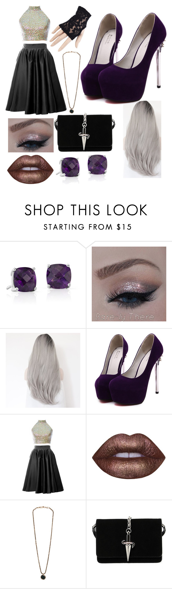 """Crys Steele Formal Outfit 1"" by crys-steele ❤ liked on Polyvore featuring Blue Nile, Lime Crime, George Frost and Cesare Paciotti"