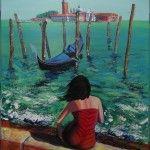 """""""Itchy Venice"""", acrylics on canvas, 50x70cm"""