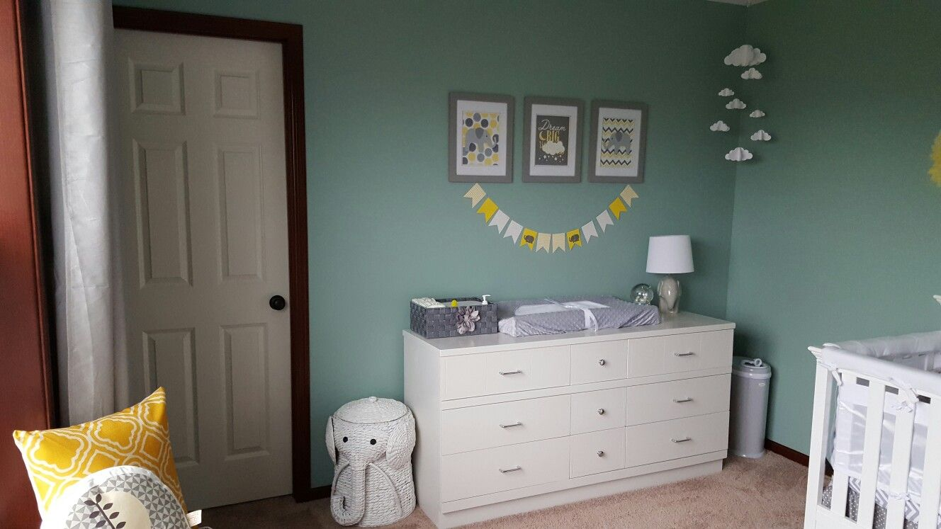 Changing station and dresser.