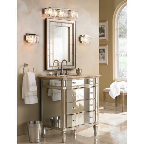 Kaylee 30 Wide Single Sink Mirrored Bathroom Vanity Y1921