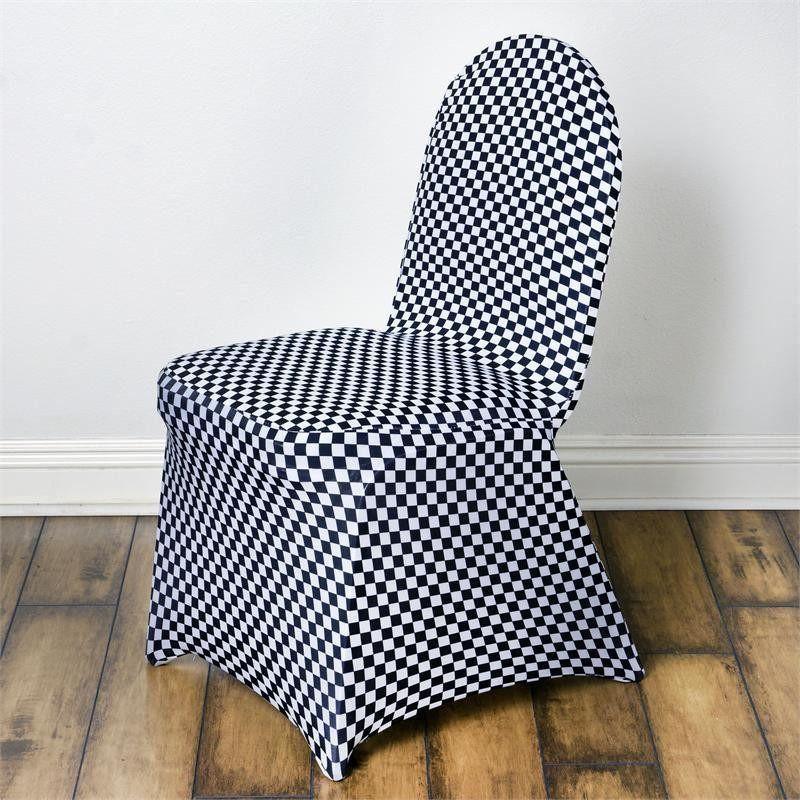 Buffalo Plaid Chair Covers Black White Checkered Spandex Banquet Chair Cover Banquet Chair Covers Plaid Chair Spandex Chair Covers