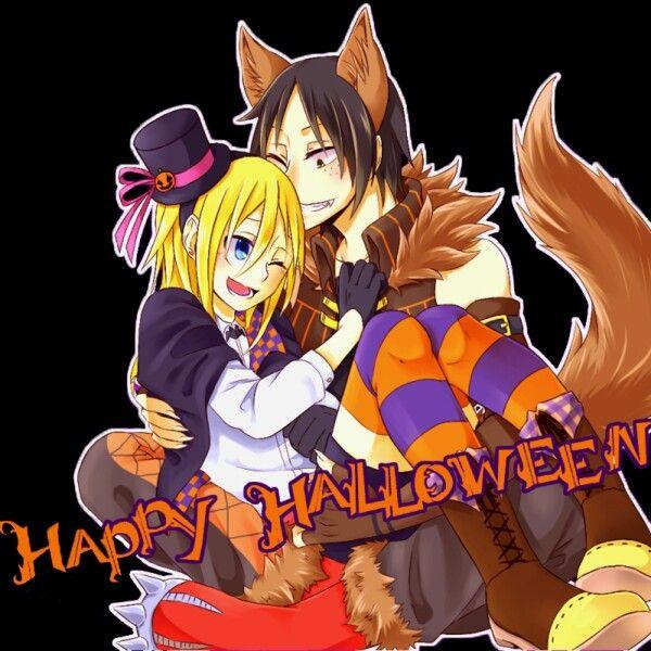 Happy halloween! ♥w♥ Krista x Ymir