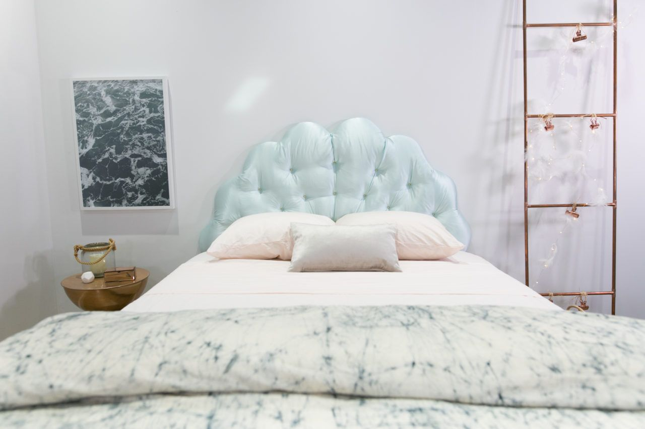 Diy Mermaid Shell Scalloped Nailhead Headboard Nailhead