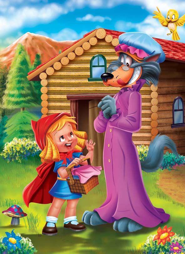 Caperucita Roja Cartoon Kids Cute Pictures Fairytale Art