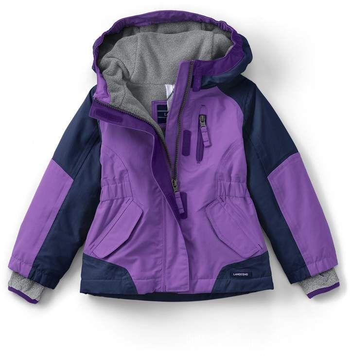 31784e974 Lands'end School Uniform Toddler Girls Squall Jacket  #cuffs#sleeve#SnowGuardTM