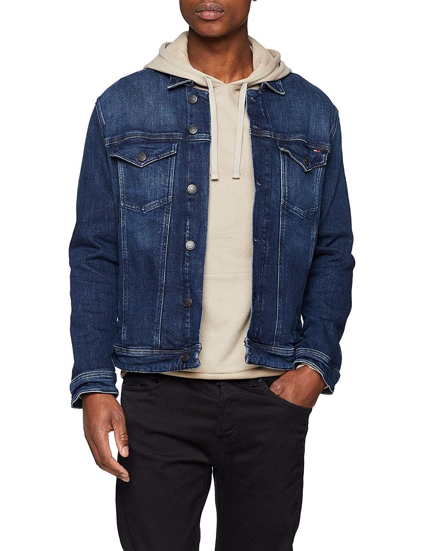 Tommy Hilfiger Mens Jean Jacket Classic Denim Trucker Denim Jacket