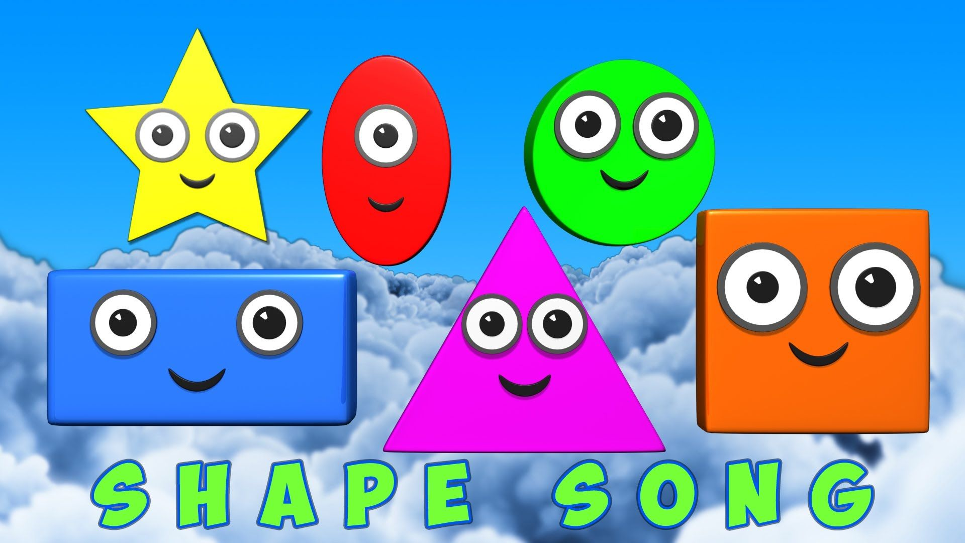 Shapes Song Video For Learning Basic Shapes Shape Songs Alphabet Activities Preschool Nursery Rhymes