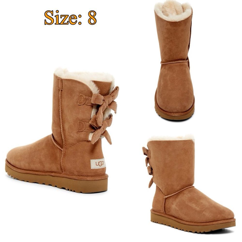 87ef144983a Details about UGG Australia Bailey Bow Corduroy Genuine Sheepskin ...