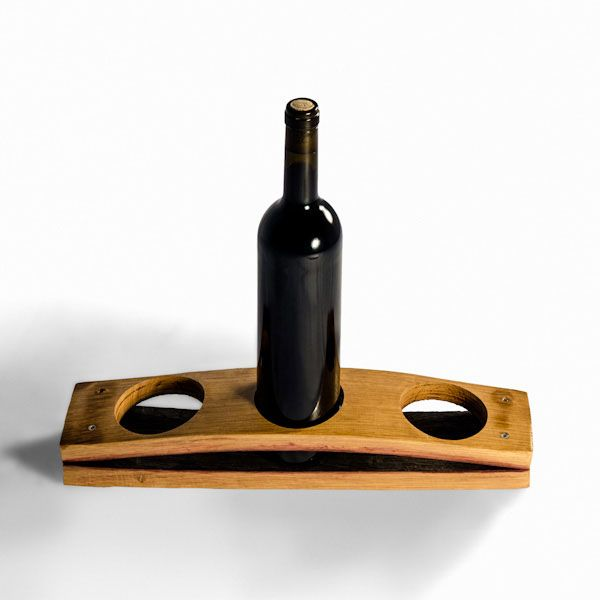 Made From A Wine Stave, This Original Bottle Support, With A Capacity For  Holding Home Design Ideas
