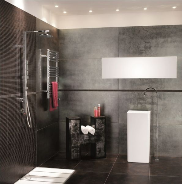 Carrelage Workshop MIRAGE TANGUY Matériaux Salle de bains - salle de bain carrelee