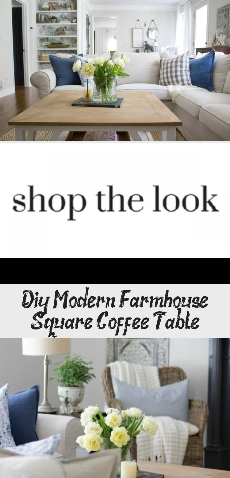 Diy Modern Farmhouse Square Coffee Table Decor Modern Farmhouse Diy Modern Diy Square Coffee Table Decor [ 1560 x 750 Pixel ]