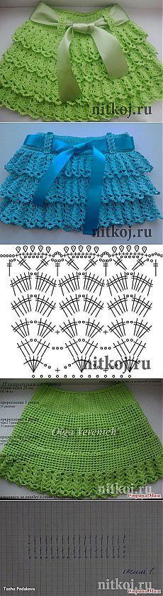 Красивая юбочка крючком » Ниткой - вязаные вещи для вашего дома, вязание крючком, вязание спицами, схемы вязания