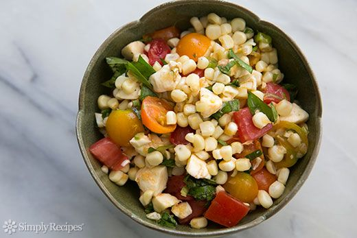 Caprese Corn Salad Recipe on SimplyRecipes.com