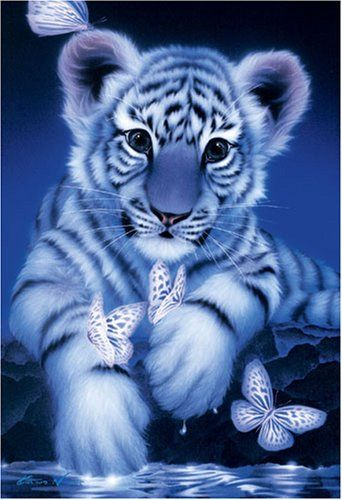 450 piece White Baby Tiger jigsaw puzzle