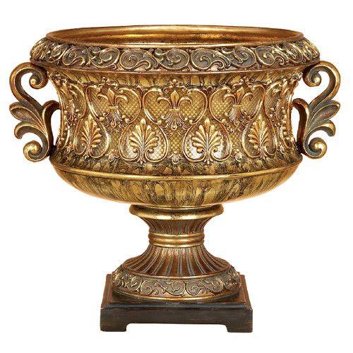 Antique Decorative Bowls Features Main Color Antique Gold And Brownpatina Accents