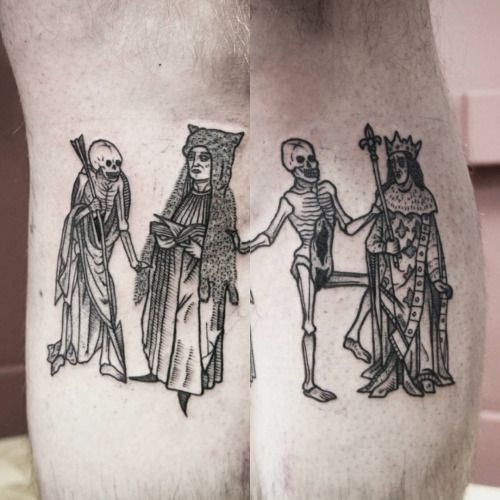 Danse Macabre Thanks Romain Done At Fovtattoo Lille