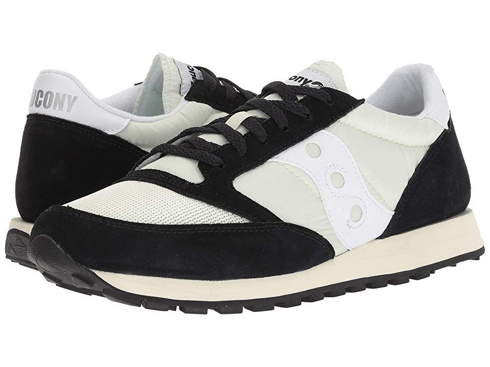 sports shoes 4e447 e7ef0 Saucony Originals Jazz Original Vintage (Pale Green Black White) Men s  Classic Shoes