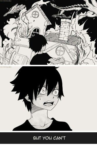 Oh no. This is so sad. It was here natsu and his parents died, and zeref was left all alone. So sad to think about