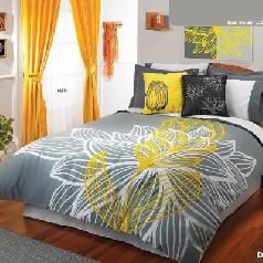 Best Grey And Yellow Bedding Set Yellow And Grey Comforters And Pillows Yellow Master Bedroom Yellow Bedroom Yellow Bedding