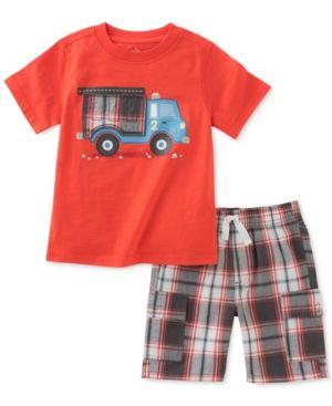 fea2ff8763 Kids Headquarters 2-Pc. Graphic-Print Cotton T-Shirt   Shorts Set ...