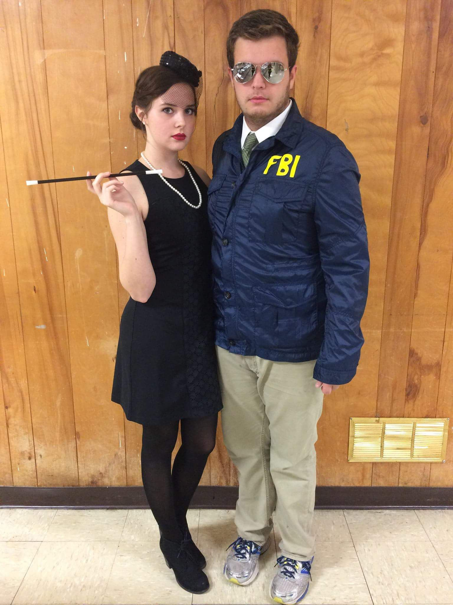 burt mcklin fbi and janet snakehole couples halloween costume