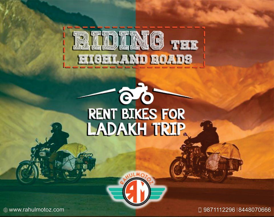 Riding The Highland Roads Rent Bike For Ladakh Trip For Bookings