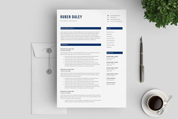 Resume Template 3 Pages / CV