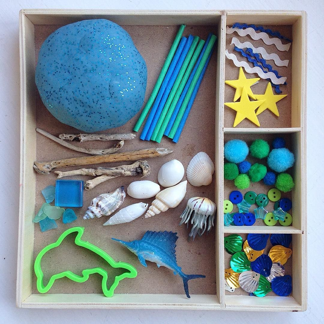 Ocean Playdough Tray