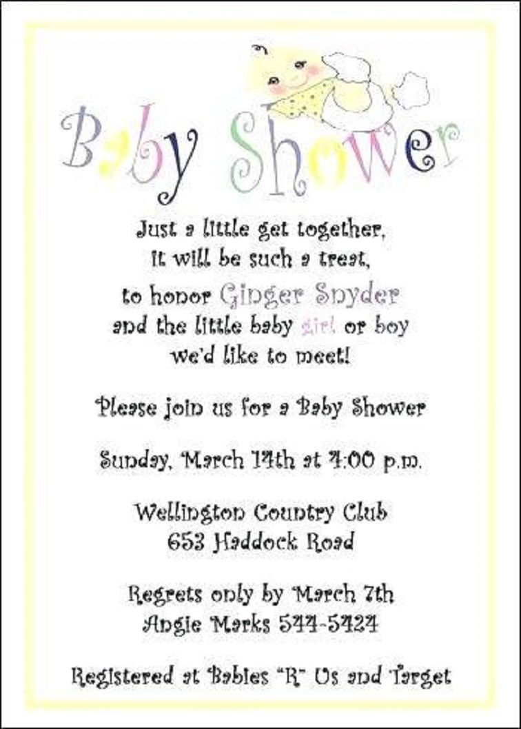Surprise Baby Shower Invitation Poems