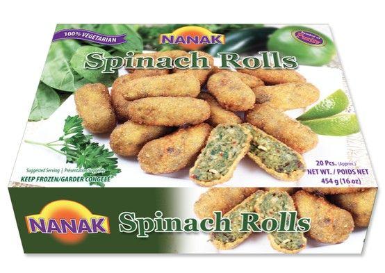 Spinach Rolls | #NanakFoods #IndianFood #Food http://www.nanakfoods.com